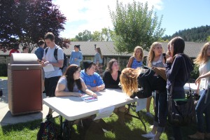 QSA and NCBI's shared booth attracted students interested in