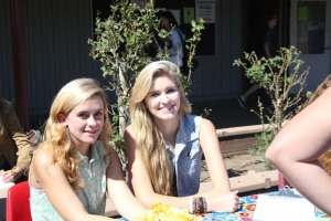 The friendly co-presidents of the Fashion Club, Celia Hare and Anna Young.