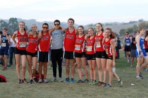 Some of the boys and girls from the Mt. Sac invitational race. Photo From: Facebook