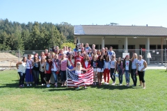 Students and teachers alike dressed up America Day. Photo From: Lauren Sm