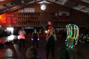The seniors had a dazzling display of light during their lip sync.