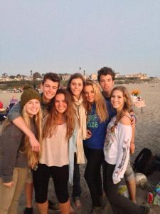 A beach day with the French Students. Photo From: Jessie Saso
