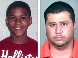Treyvon Martin (left) and his murdered, George Zimmerman (right). Photo From: theblaze.com