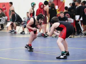 Returning Sophomore Jed Kraft wrestling. Photo From: Facebook