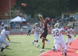 An SLV receiver going up for the catch. Photo From: Mbaypreps.com