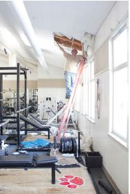 The weight room being fixed. Photo From: slvhs.slv.k12.ca.us
