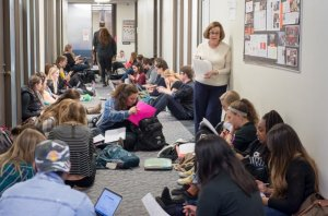 Students occupying administration building