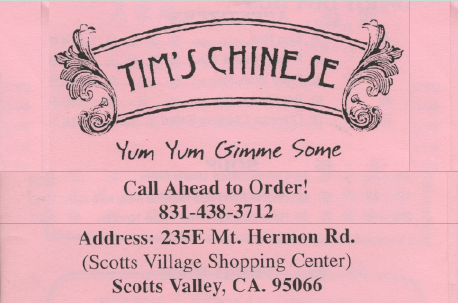 Tim's Chinese (UPDATED)